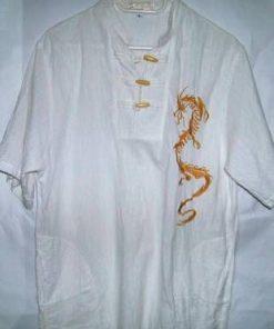 Bluza Feng Shui din in cu dragonul cerului brodat