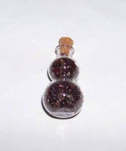 Wu Lou din sticla umplut cu cristale de granat
