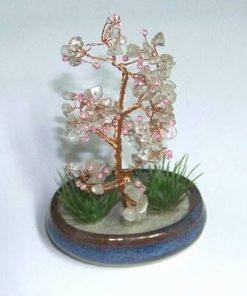 Copacel cu cristal de stanca in suport din ceramica