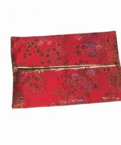 Husa rosie pentru acte si carti de vizita