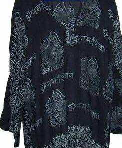 Bluza din matase cu ideograme si Buddha - XL