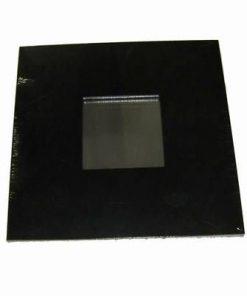 Oglinda Feng Shui plana, cu rama neagra din lemn