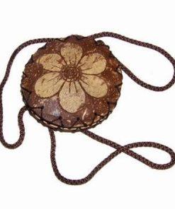 Gentuta cu fermoar, din nuca de cocos