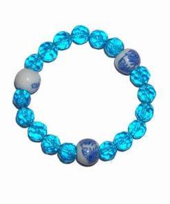 Bratara magca cu lotus si cristale albastre