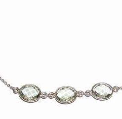 Bratara din argint 925 si cristal de peridot multifatetat