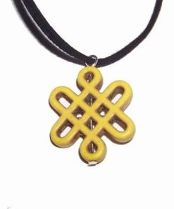 Pandantiv cu nodul mistic reprezentand elementul pamant
