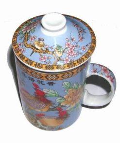 Cana Feng Shui cu bujorii dragostei si flori de mar