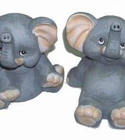 Cuplu de elefanti din ceramica pentru sanatate