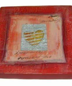 Tablou pe canvas cu inima si simboluri de bun augur