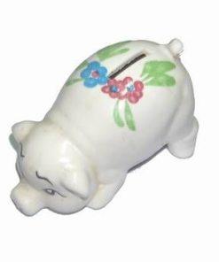 Pusculita din ceramica cu Purcelusul Norocos