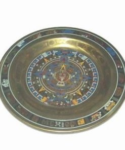 Calendarul Aztec din metal auriu