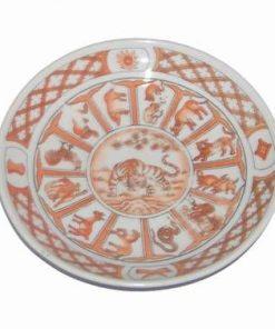 Farfurie decorativa din portelan cu 12 zodii pentru Tigru