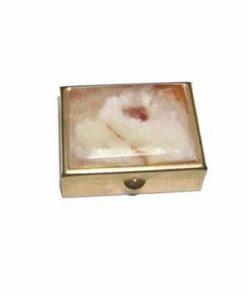 Casetuta aurie cu cristale de onix vintage