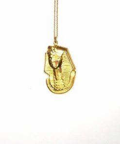 Amuleta aurie cu Tutankamon