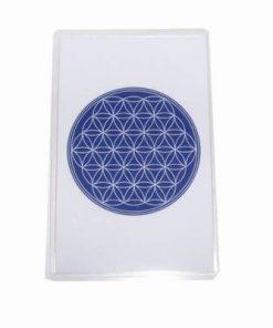 Card Feng Shui cu Floarea Vietii - albastru