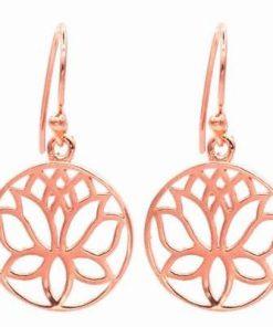 Cercei din cupru cu Floare de Lotus