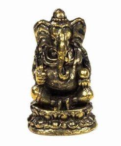 Zeitatea Ganesh din alama - ministatueta