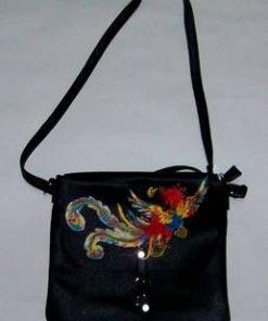 Geanta Feng Shui din piele ecologica neagra