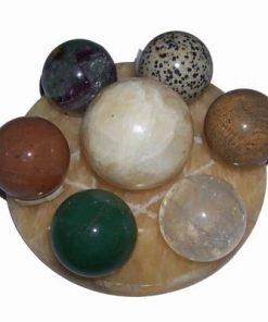 Grila / platou din citrin cu 7 sfere magice