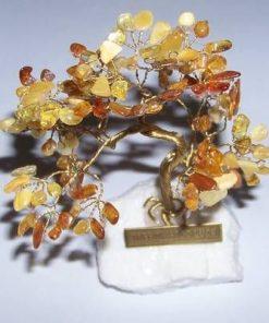 Copacel din chilimbar pe suport din cristal