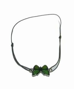 Bratara verde pe siret reglabil cu fluturele eliberarii