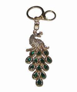 Breloc/ amuleta Feng Shui cu paunul succesului