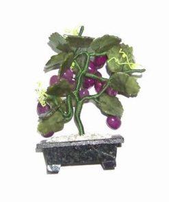 Strugure din cristal de jad si agat pe suport ceramic