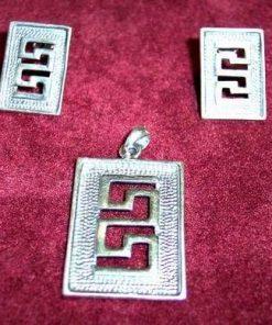 Set de bijuterii din argint cu simbolul sanatatii - unicat!