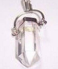 Pandantiv din cristal de stanca argintat