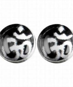Cercei din argint cu simbolul Tao/Om
