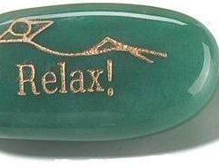 Cristal de aventurin cu simbol de relaxare