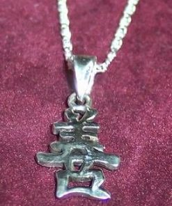 Ideograma Nobletei si Onoarei din argint pe lantisor