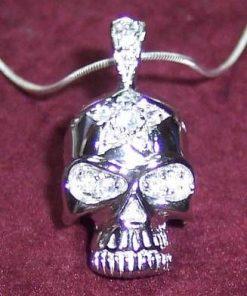 Craniu din argint si cristale - model UNICAT1
