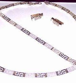 Set din argint cu Simbolul Sanatatii - model unicat!
