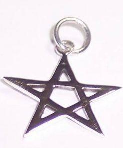 Pentagrama magica din argint - remediu de protectie
