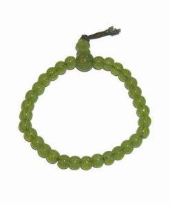 Bratara Mala pe elastic cu sfere verzi pentru succes