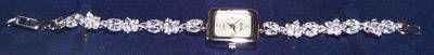 Ceas din argint 925 cu zirconii naturale- model unicat!