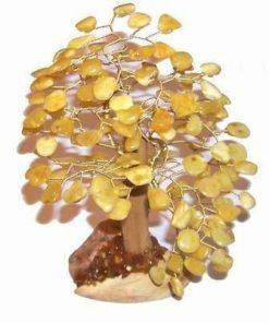 Copacel cu cristale de chihlimbar - mare - model deosebit !