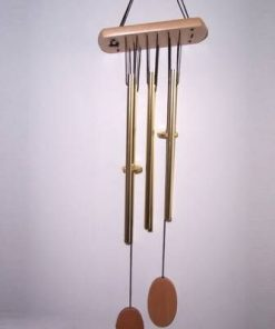 Clopotel de vant  6 tuburi pline- galben