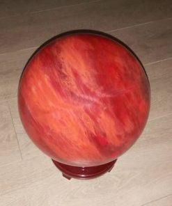 Sfera din cuart cherry pe suport marime xl 15cm