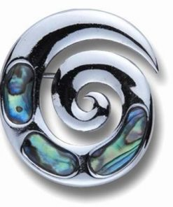 Brosa din metal cu scoica marina - Spirala Reiki