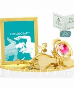 Suport placat cu aur si cristale Swarovski