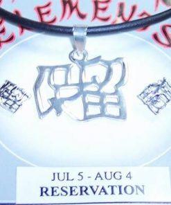 Set Feng Shui din argint cu Ideograma Echilibrului Emotional