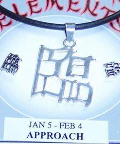 Set Feng Shui din argint cu Ideograma Apropierii