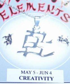 Set Feng Shui din argint cu Ideograma Creativitatii