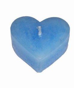 Lumanare albastra in forma de inima
