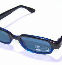 Ochelari de soare, cu rama albastra si lentila albastra