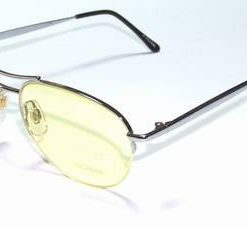 Ochelari de soare, cu rama din metal si lentila galbena