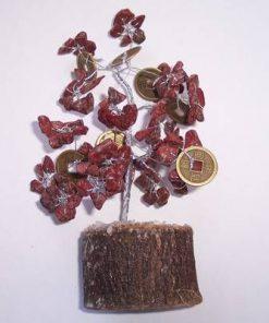 Copacel Feng Shui cu cristale de jasp si monede
