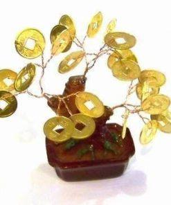 Copacel cu monede aurii